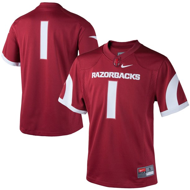 #1 Arkansas Razorbacks Nike Youth Replica Football Jersey - Cardinal