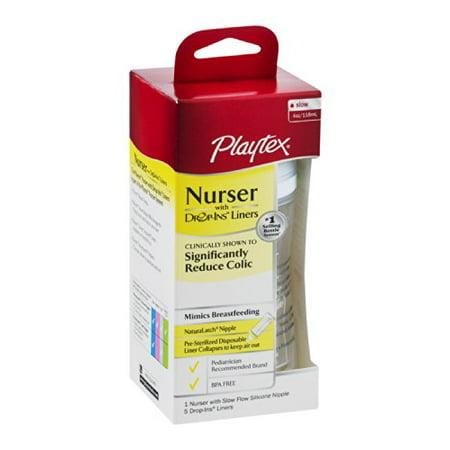 2 Pack Playtex Nurser With Drop Ins Liner 4oz Each