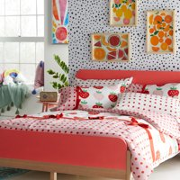Sweet Strawberry Complete Bedding Set by Drew Barrymore Flower Kids, Multiple Sizes
