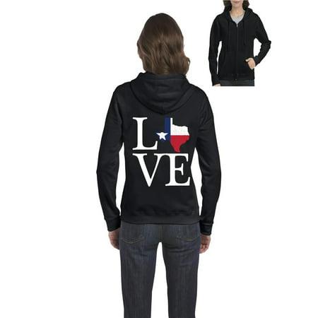 Love Texas Women Full-Zip Hooded - Texas Tech Sweatshirt