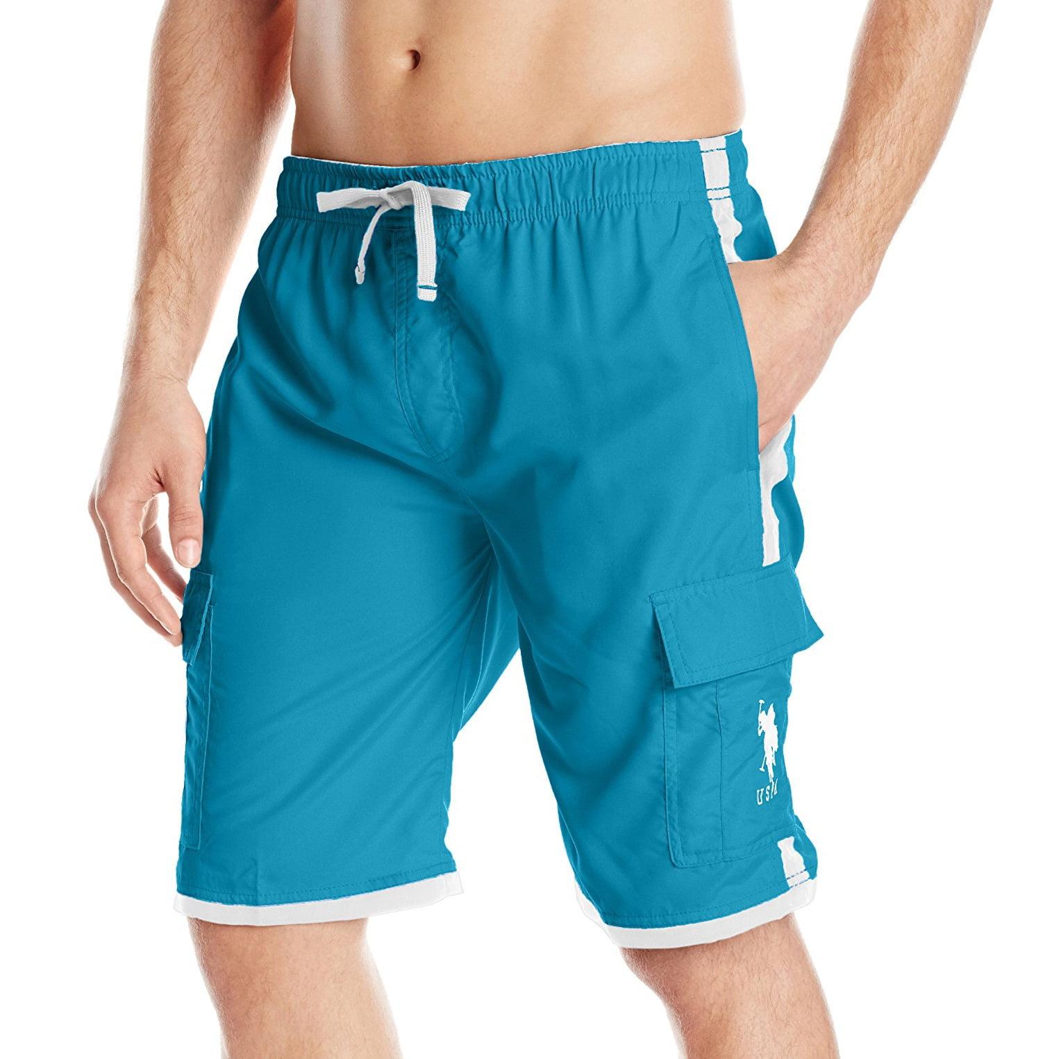 U.S. Polo Assn. NEW Blue Mens Size Large L Drawstring Board Shorts