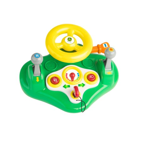 John Deere Busy Driver, Kids Toy Steering Wheel & Driving Dashboard With Lights and Sounds