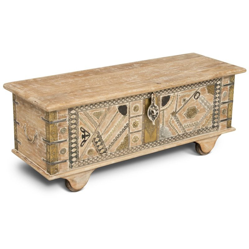 Amira Storage Trunk Coffee Table In, Storage Trunk Table