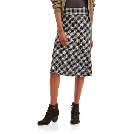 Lifestyle Attitude Women's Woven Skirt With Plaid Detail - Cheap Plaid Skirts Halloween
