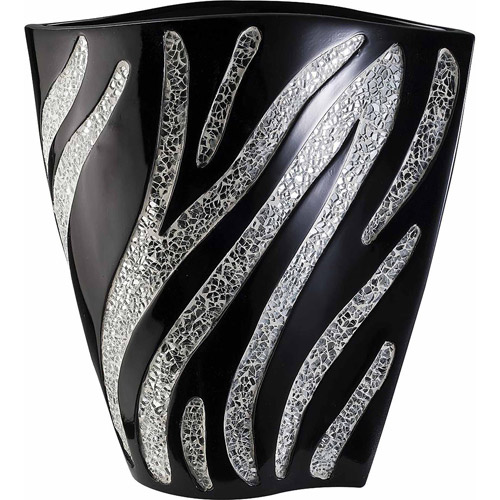 "Ore 14"" Zebra Decorative Vase"