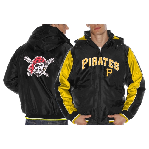 Men's Pittsburgh Pirates Black Rover Fleece Jacket by G-III LEATHER FASHIONS INC