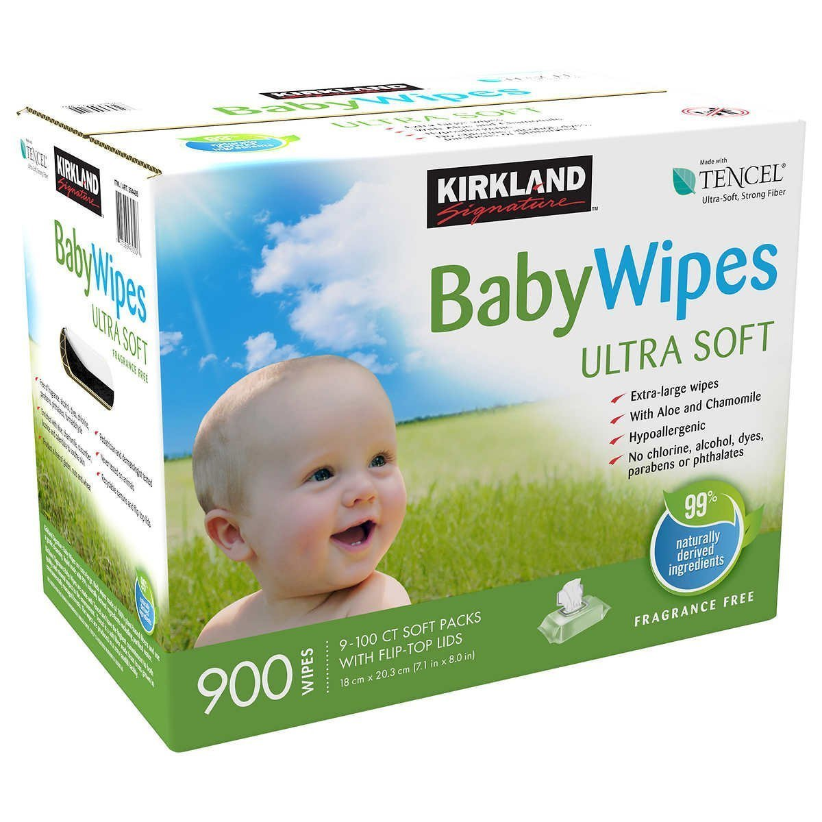 Kirkland Signature Unscented Baby Wipes, 9 X 100Ct by Kirkland
