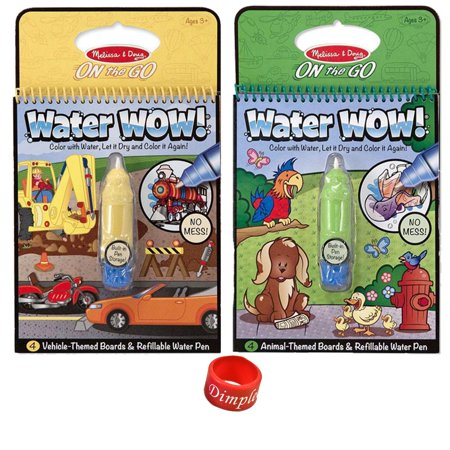 Melissa & Doug Water Wow Coloring Book - Animals and Vehicles with ...
