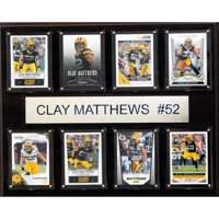 C&I Collectables NFL 12x15 Clay Matthews Green Bay Packers 8-Card Plaque