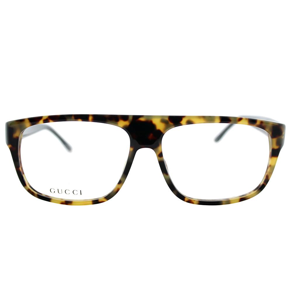 Gucci - Mens Eyeglasses 1009/N 555/14 Plastic Rectangle Light Havana ...