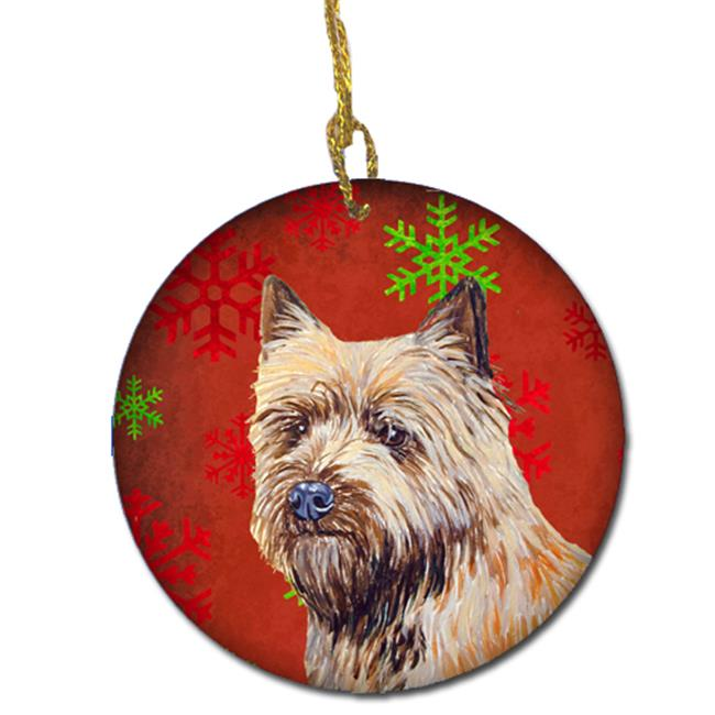 Carolines Treasures LH9320-CO1 Cairn Terrier Red Snowflake Holiday Christmas Ceramic Ornament - image 1 of 1