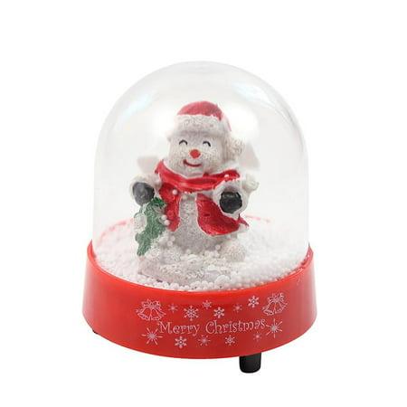 Elegantoss Christmas Musical Snow Globe with Snowman Inside, Falling Snowflakes ()
