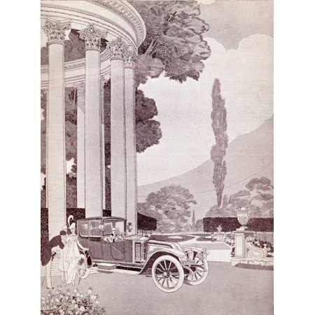 Advertisement For Renault Cars 1914 Canvas Art - Ken Welsh Design Pics (13 x 17)