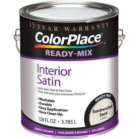 Colorplace Sundrenched Sand Ready Mix Satin Interior Paint 1 Gallon