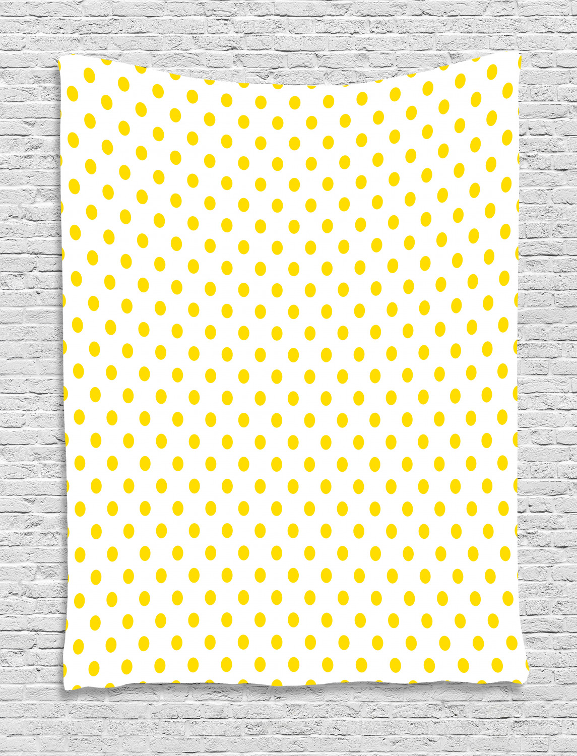 Yellow Tapestry Picnic Like Cute 50s 60s 70s Retro Themed Yellow Spotted White Pattern Print Wall Hanging For Bedroom Living Room Dorm Decor Yellow And White By Ambesonne Walmart Com Walmart Com