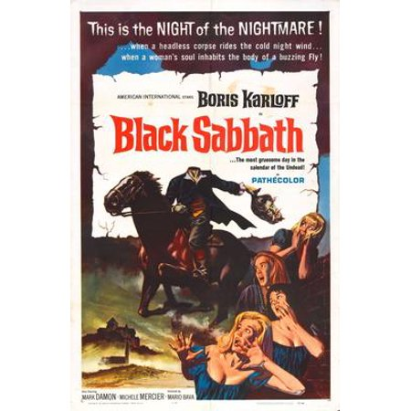 Black Sabbath Movie Poster Metal Sign 8inx 12in (Black Sabbath The Sign Of The Southern Cross)