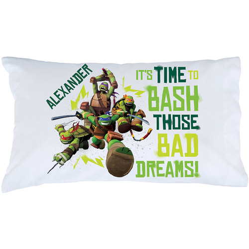 Personalized Teenage Mutant Ninja Turtles Bash Pillowcase