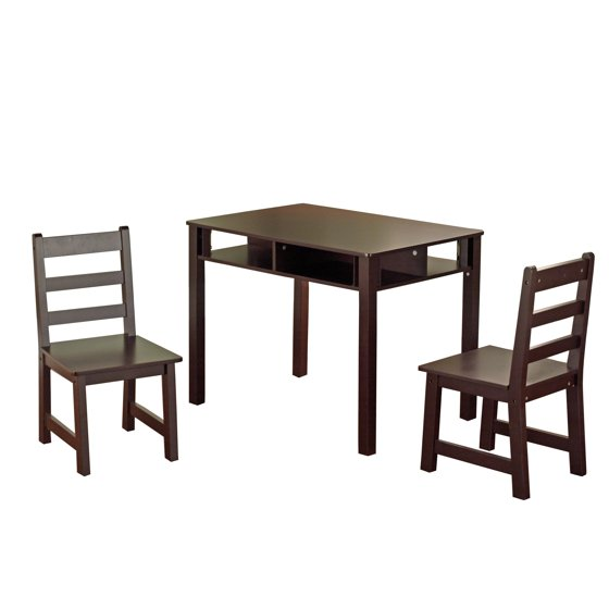 Table And Chairs Walmart: Kids' Table And Chairs Set, Espresso