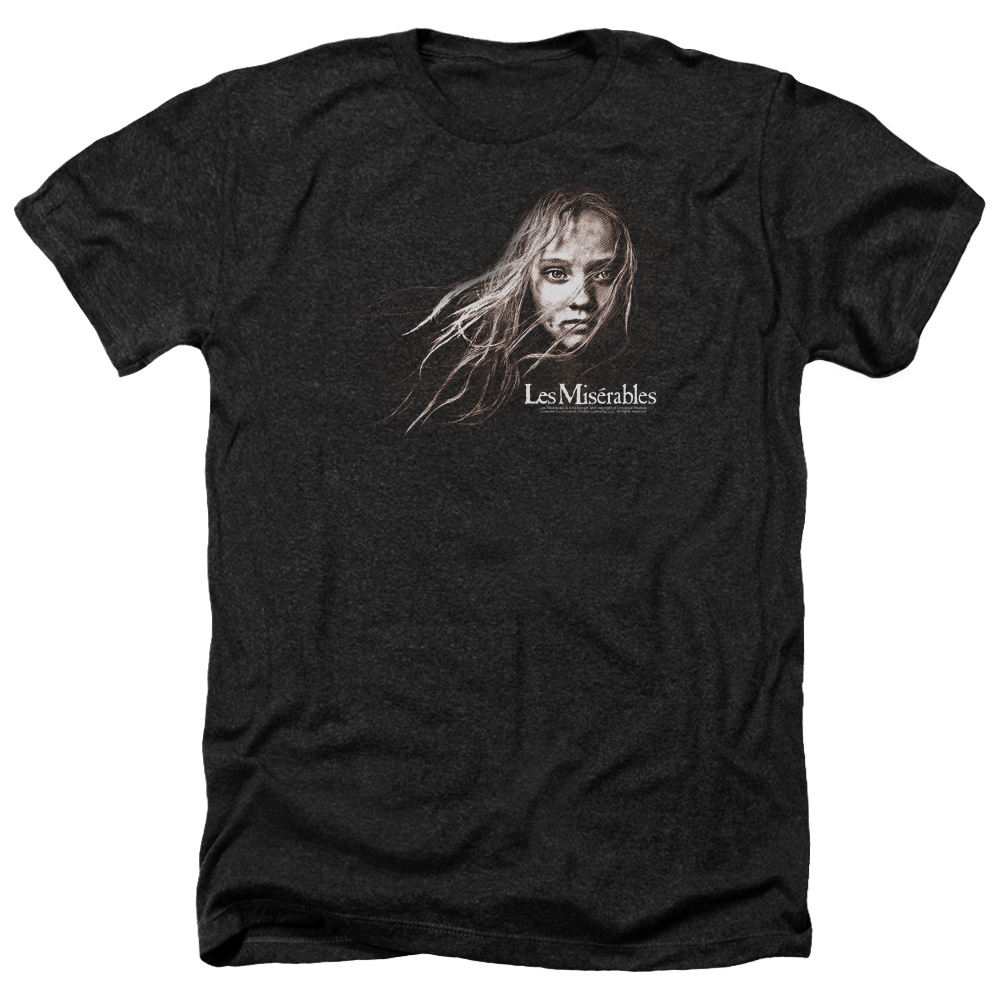 Les Miserables Cosette Face Mens Heather Shirt