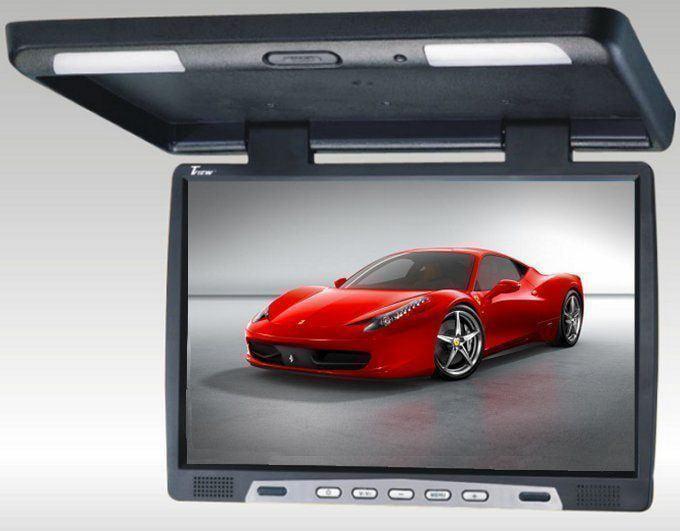 "TView T2207IR 22/"" Thin Overhead Car//Truck//SUV Video Monitor IR Transmitter Black"