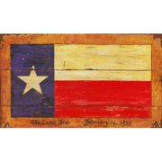 Red Horse Arts Texas Flag Painting Print Plaque