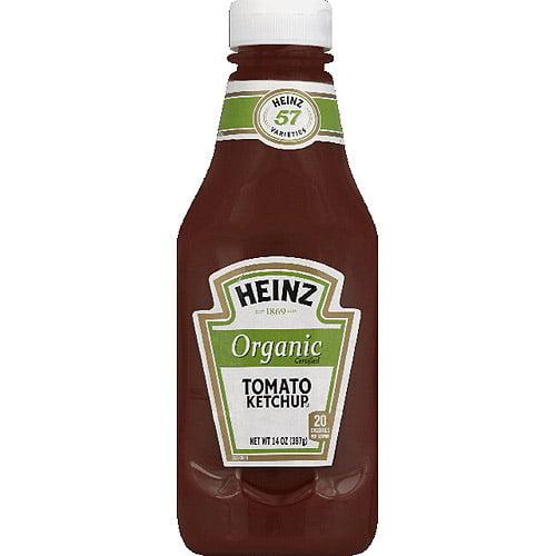 Heinz Organic Tomato Ketchup, 14 oz, (Pack of 6)