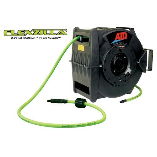 "ATD Tools Levelwind Retractable Air Hose Reel with 3 8"" x 60' Premium Flexzilla Hose... by Rel Products, Inc."