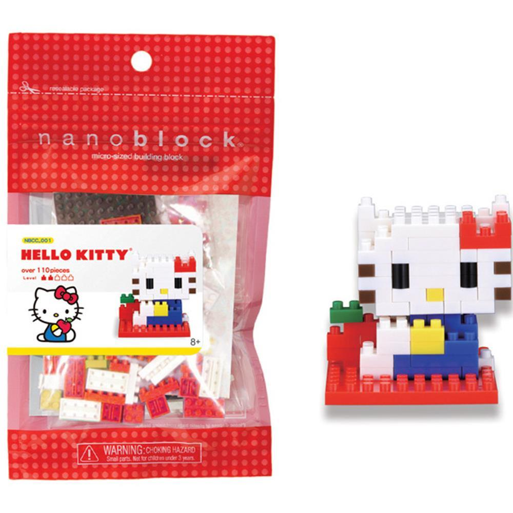 Nanoblock Hello Kitty - new series Sanrio Character Collection with a exhibition plate