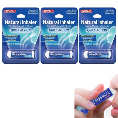 3PK Aromatherapy Inhaler Nasal Congestion Relief Natural Oils Remedy Travel