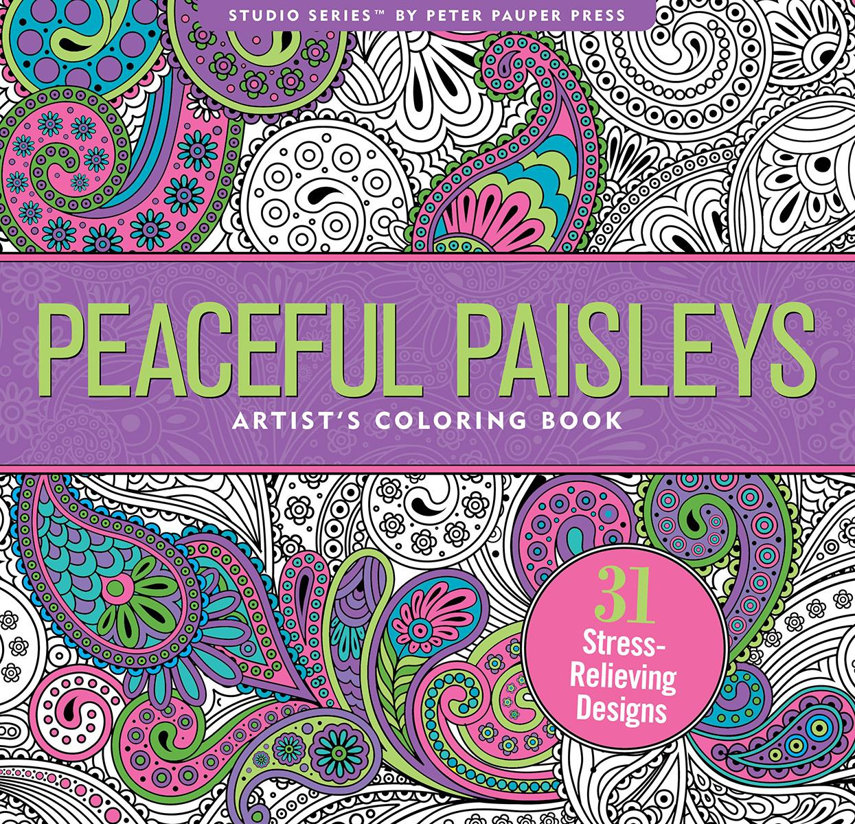 Peaceful Paisleys Adult Coloring Book (31 Stress-Relieving Designs) (Other)