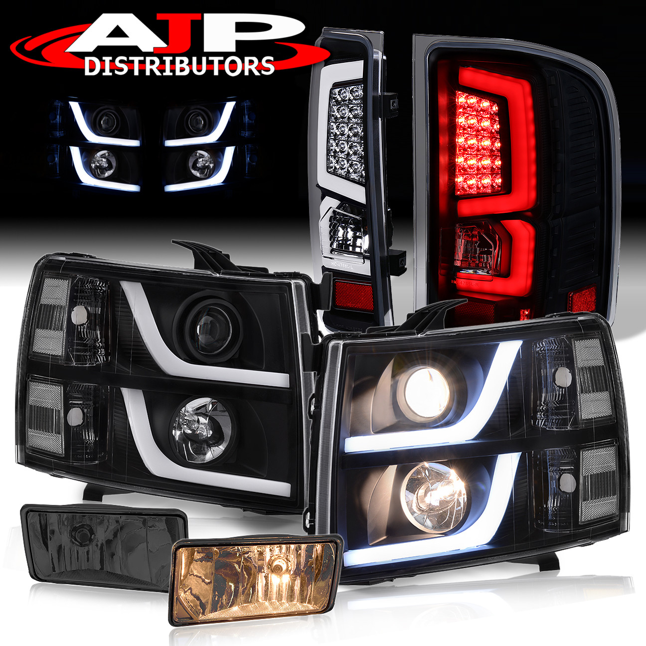 2003 2004 2005 2006 Suburban Tahoe 1500 2500 AJP Distributors LED DRL Headlights Head Lights Lamps For 1999 2000 2001 2002 Chevy Silverado //
