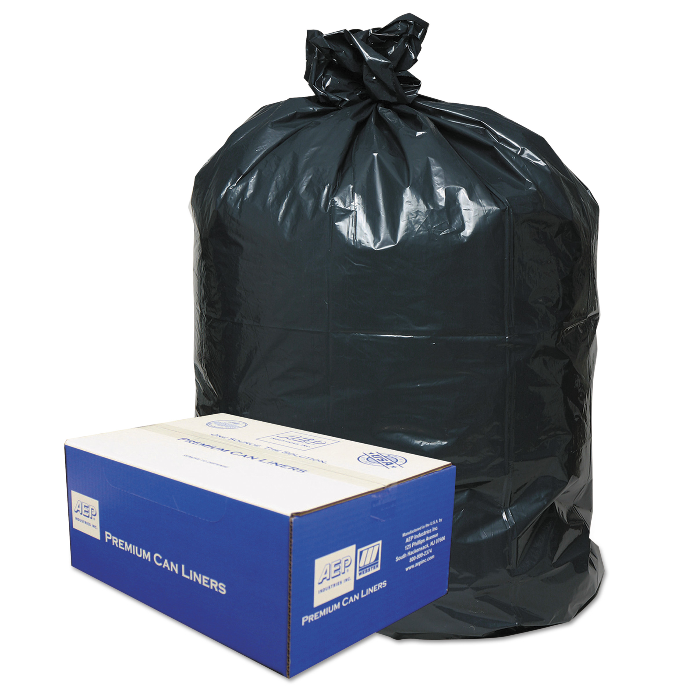 Classic Clear Opaque Linear Brown/Black Low-Density Can Liner,55-60 gal, 100 ct