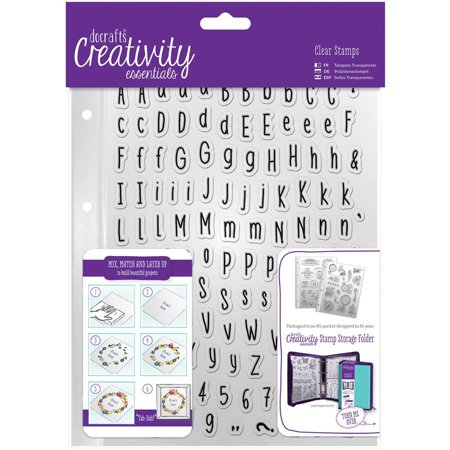 Alpha Stamp Set (Creativity Essentials A5 Clear Stamp Set, 128pk, Alphas)