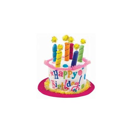 Birthday Cake Hat (Girl Birthday Cake Hat)