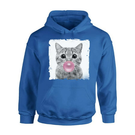 Awkward Styles Funny Cat Chewing Gum New Animal Themed Clothes Cat with Gum Hoodie Animal Hoodie for Woman Funny Animal Gifts Cat Clothing Cute Animals Best Unisex Gifts Cute Hoodie