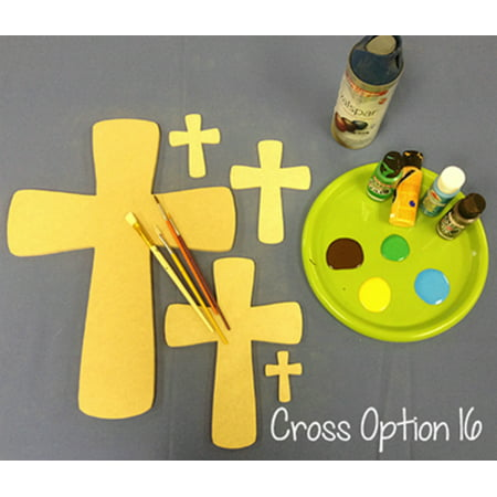 Wood Crosses for Crafts, 22'' Wood Cross Cutout, Unfinished DIY (16) for $<!---->