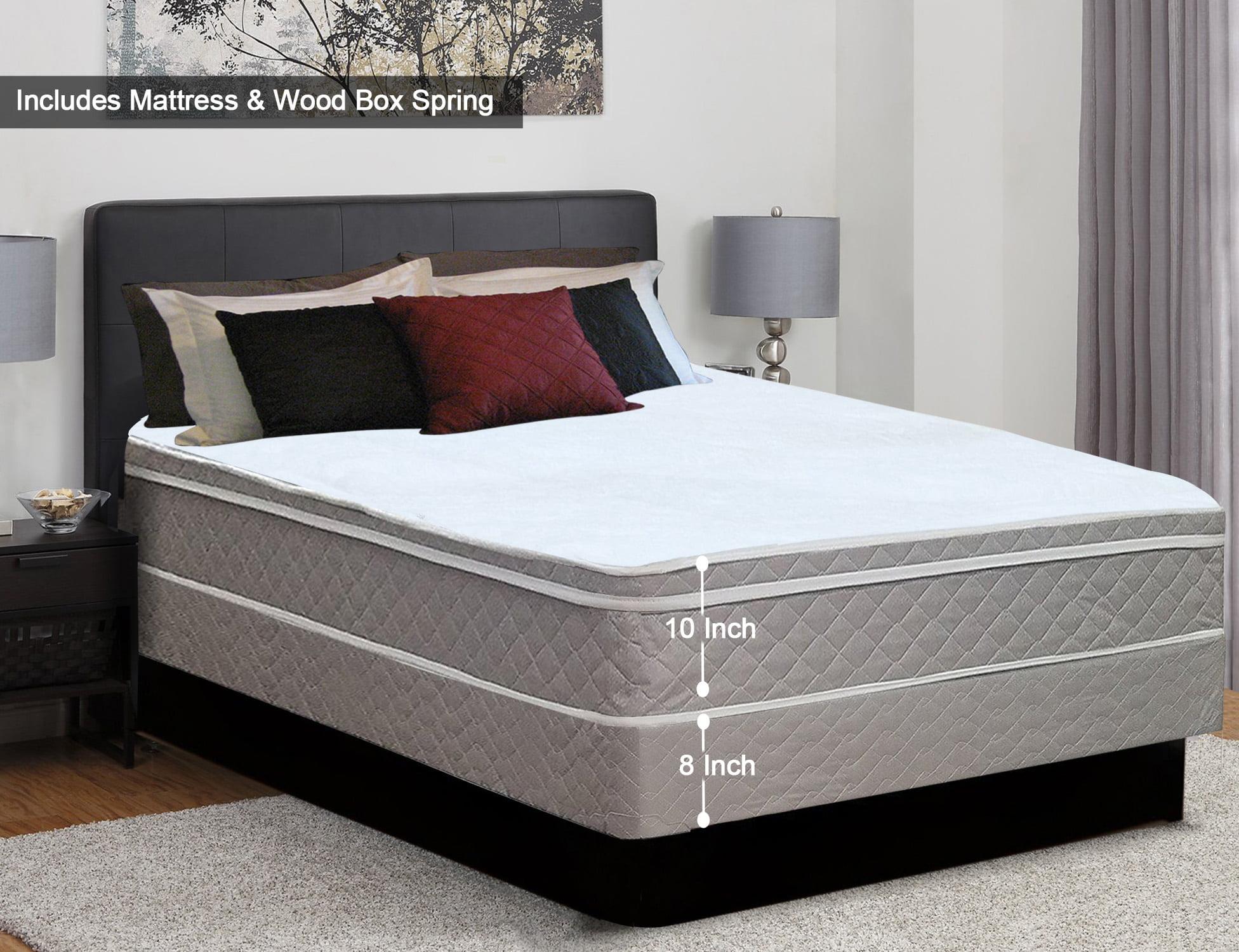Continental Sleep 10 Euro Top Innerspring Medium Plush Mattress And 8 Box Spring
