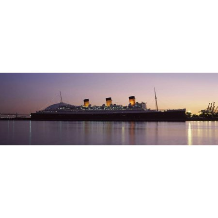 Rms Queen Mary in an Ocean, Long Beach, Los Angeles County, California, USA Print Wall - Queen Mary Los Angeles Halloween
