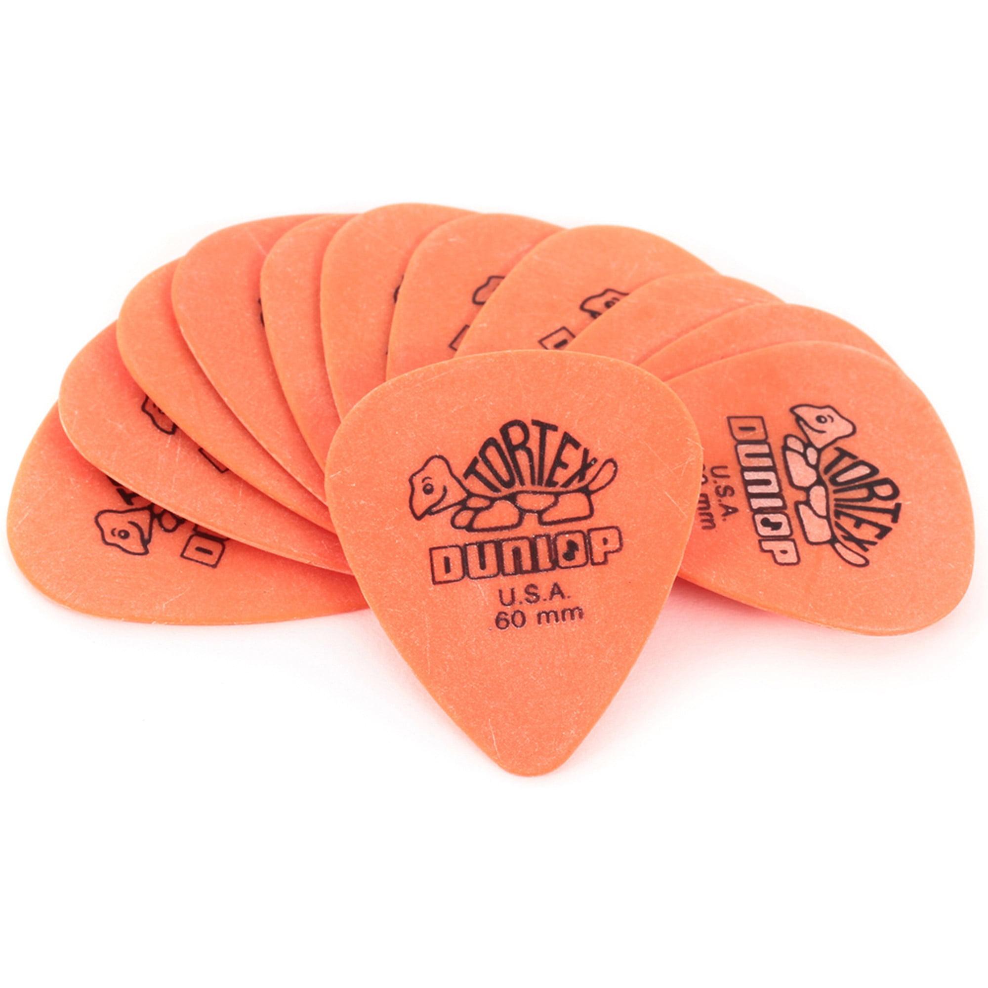 Dunlop Tortex Standard Guitar Picks, 12-Pack, .60mm, Orange by Dunlop