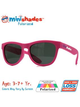 Minishades Polarized: Flexible Kids Sunglasses - Hot Pink  UVA/UVB  Hide n' Seek Replacement   Age: 3-7+Yr.