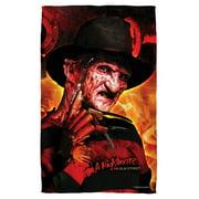 Nightmare On Elm Street Freddy'S Boiler Room Bath Towel White 27X52