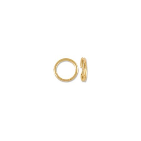 Large Split Rings - Split Ring 5mm 14 Karat Yellow Gold