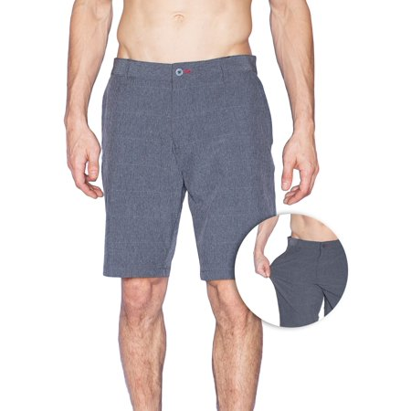 Burnside Mens Quick Dry Stretch Hybrid Dual Function Lightweight Shorts