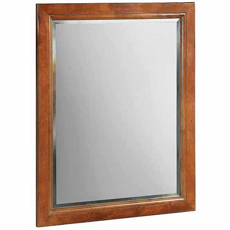 Design House 539577 Montclair Chestnut Glaze Wall Mirror with Solid ...