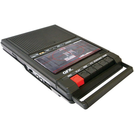 QFX RETRO-39 Retro Shoebox Cassette Tape Recorder (Rca Tape Recorder)