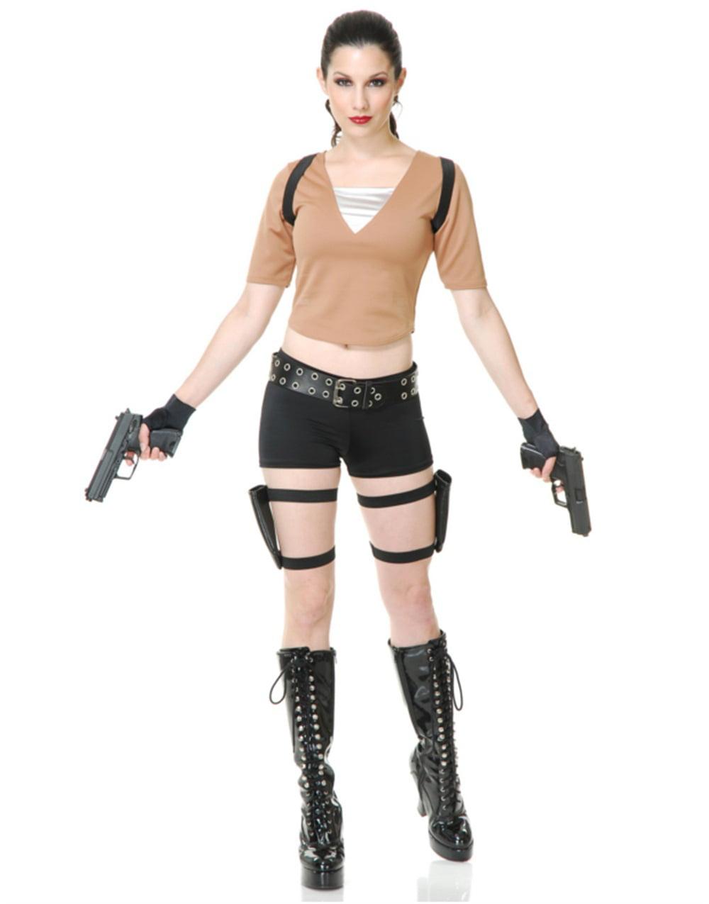 Womens Tomb Fighter Raider Lara Croft Costume Walmart Com