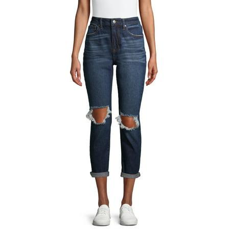 No Boundaries Juniors' Mom Jeans