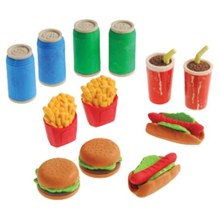 (Price/Dozen)US TOY 4320 Junk Food 3D Erasers](Food Erasers At Target)