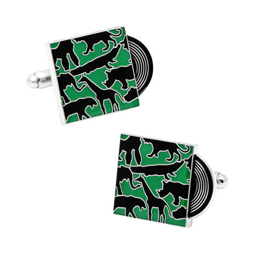 Men's Welcome to the Jungle Record Cufflinks
