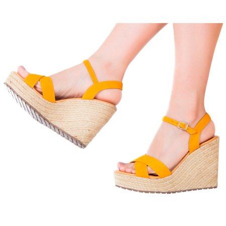 a1ac12b61 VIDALeather - Vida Leather Women Ankle Tie Platform Espadrille Sandals